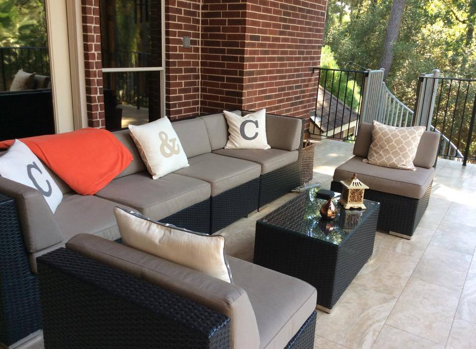 Ohana Patio Furniture Taupe Seating Set. U201c