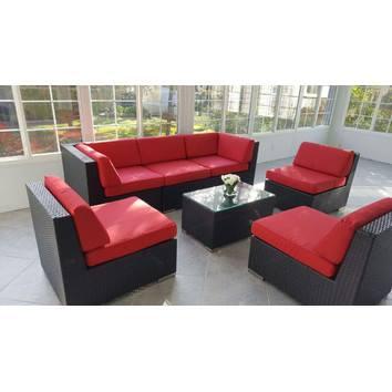 ohana patio wicker seating furniture set